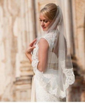 single-tier veil