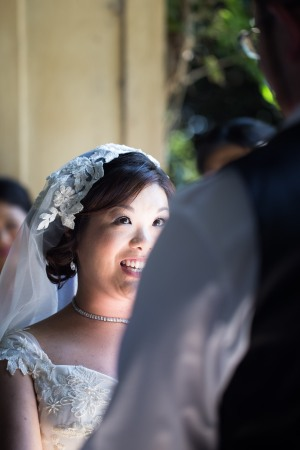"See that face? That's the ""don't you dare cry while you're saying your vows"" face."